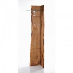 Panel Woodline mocowany do ściany z wieszakami iszklaną półką
