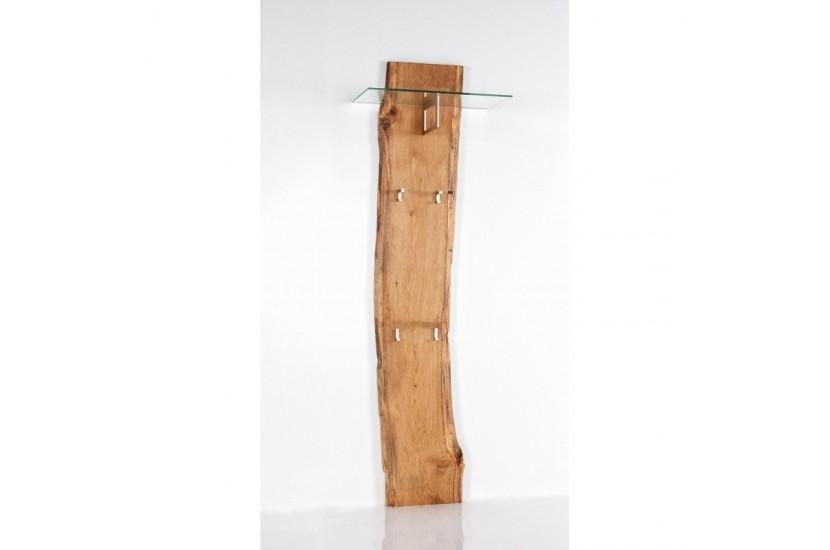 Woodline Panel mocowany do ściany z wieszakami iszklaną półką