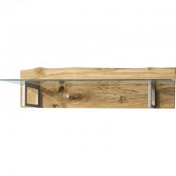 Wieszak Woodline poziomy z półką szklaną
