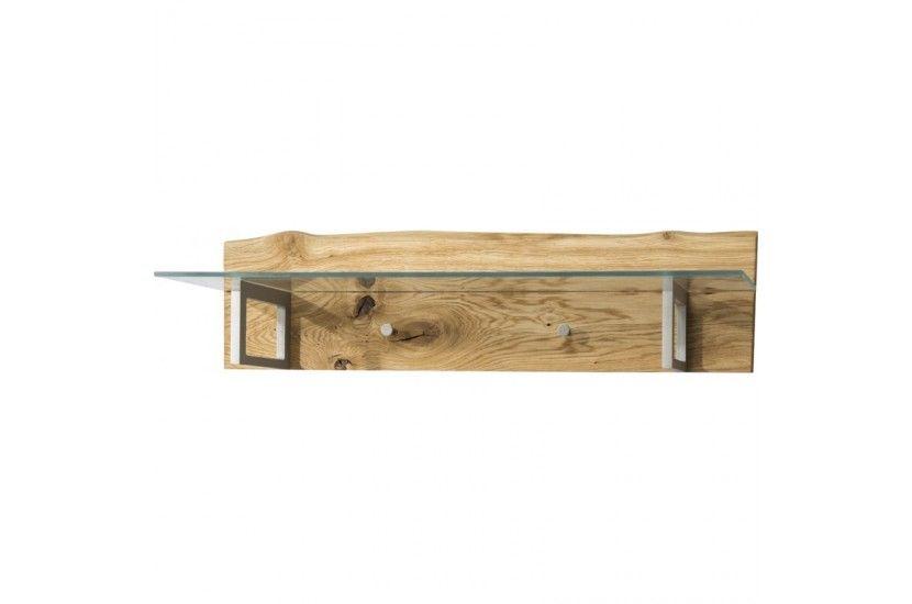 Woodline Wieszak poziomy z półką szklaną