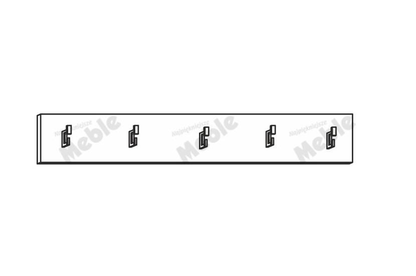 Półka wisząca Mido 601117